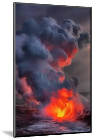Fire Water Lava Shore Hawaii Big Island Volcano National Park-Vincent James-Mounted Photographic Print