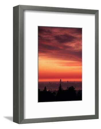 Sweet Silk Sunset Over San Francisco Golden Fire in the Sky-Vincent James-Framed Photographic Print