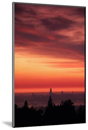 Sweet Silk Sunset Over San Francisco Golden Fire in the Sky-Vincent James-Mounted Photographic Print