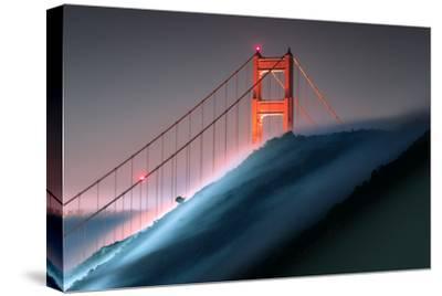 Verge Wide View Unique Fog Flow Hillside Golden Gate Marin Headlands-Vincent James-Stretched Canvas Print