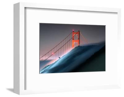 Verge Wide View Unique Fog Flow Hillside Golden Gate Marin Headlands-Vincent James-Framed Photographic Print