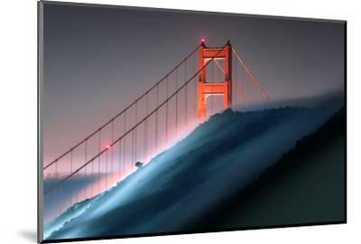 Verge Wide View Unique Fog Flow Hillside Golden Gate Marin Headlands-Vincent James-Mounted Photographic Print