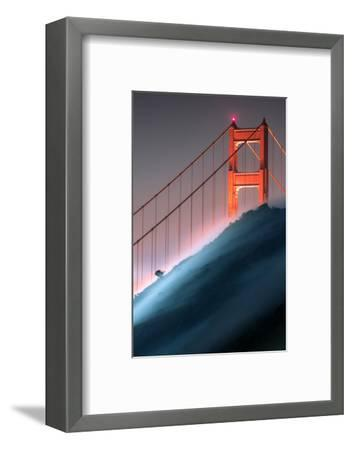 Verge Unique Fog Flow Hillside Golden Gate Marin Headlands-Vincent James-Framed Photographic Print