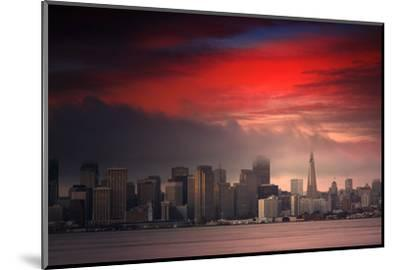 Deep Red Sunset Downtown San Francisco Bay Treasure Island-Vincent James-Mounted Photographic Print