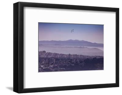 Blue Angels Over Sunset Neighborhood District San Francisco-Vincent James-Framed Photographic Print