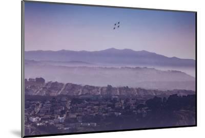 Blue Angels Over Sunset Neighborhood District San Francisco-Vincent James-Mounted Photographic Print
