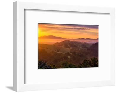 Ethereal Golden Sunrise Mount Diablo East Bay Oakland Bay Area-Vincent James-Framed Photographic Print