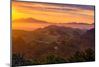 Ethereal Golden Sunrise Mount Diablo East Bay Oakland Bay Area-Vincent James-Mounted Photographic Print