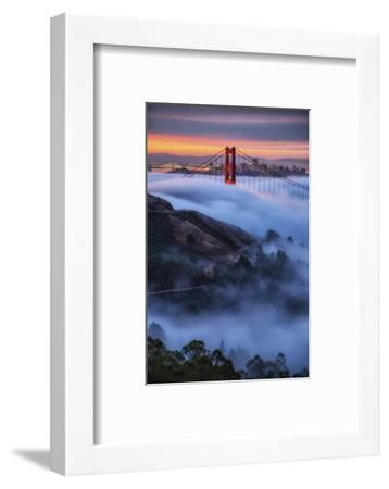 Epic Morning Fog Golden Gate Bridge, San Francisco California Travel-Vincent James-Framed Photographic Print