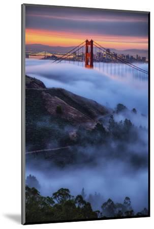 Epic Morning Fog Golden Gate Bridge, San Francisco California Travel-Vincent James-Mounted Photographic Print