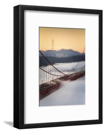 Crossing The Gate Morning Fog Golden Gate Bridge, San Francisco California Travel-Vincent James-Framed Photographic Print