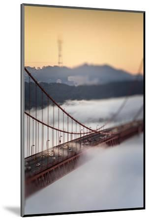 Crossing The Gate Morning Fog Golden Gate Bridge, San Francisco California Travel-Vincent James-Mounted Photographic Print