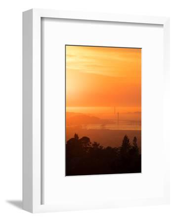 Sunset Drenched Bay Area Bay Bridge Golden Gate San Francisco Bay-Vincent James-Framed Photographic Print