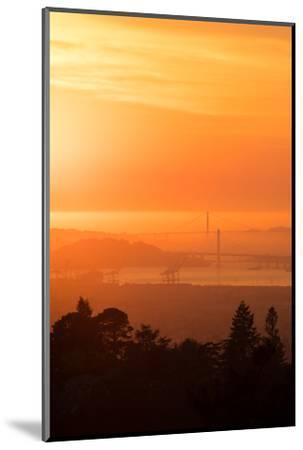 Sunset Drenched Bay Area Bay Bridge Golden Gate San Francisco Bay-Vincent James-Mounted Photographic Print