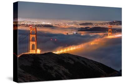 Golden Gate Pocket Resting in Fog San Francisco Bay Area-Vincent James-Stretched Canvas Print