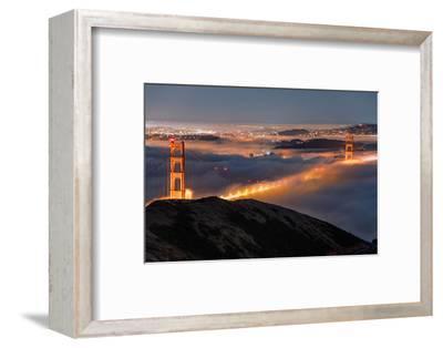 Golden Gate Pocket Resting in Fog San Francisco Bay Area-Vincent James-Framed Photographic Print