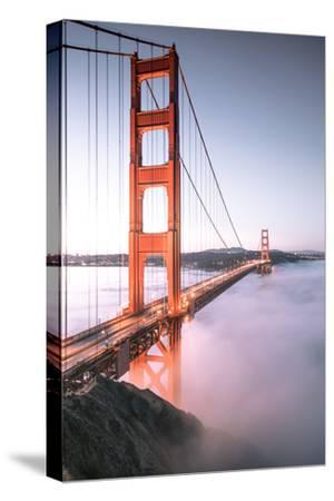 Deck Fog Arrives at Golden Gate Bridge, San Francisco-Vincent James-Stretched Canvas Print