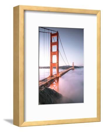 Deck Fog Arrives at Golden Gate Bridge, San Francisco-Vincent James-Framed Photographic Print