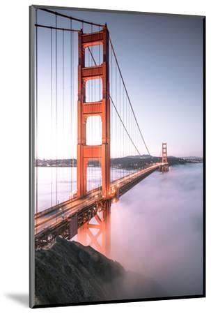Deck Fog Arrives at Golden Gate Bridge, San Francisco-Vincent James-Mounted Photographic Print