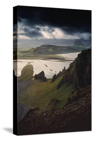 Stunning Southern Iceland Views Summer Green Storm Clouds-Vincent James-Stretched Canvas Print