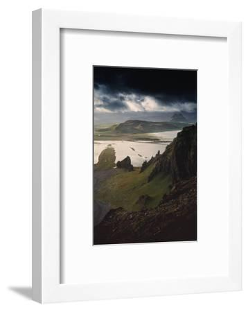 Stunning Southern Iceland Views Summer Green Storm Clouds-Vincent James-Framed Photographic Print