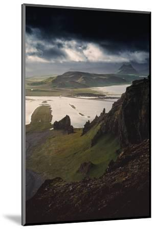 Stunning Southern Iceland Views Summer Green Storm Clouds-Vincent James-Mounted Photographic Print
