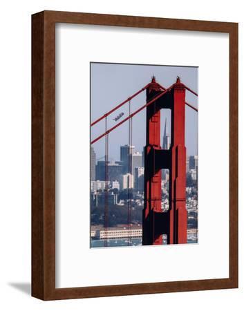 Blue Angels Show at Golden Gate Bridge, San Francisco-Vincent James-Framed Photographic Print