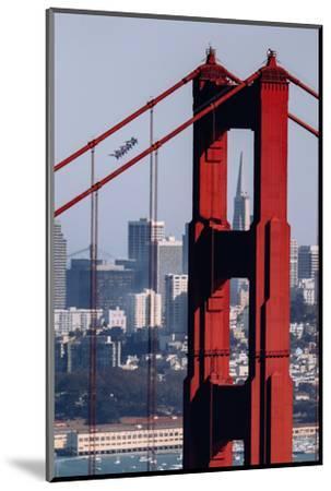 Blue Angels Show at Golden Gate Bridge, San Francisco-Vincent James-Mounted Photographic Print