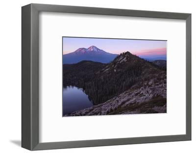 Summer Sunset, Castle Lake Overlook Mount Shasta Northern California-Vincent James-Framed Photographic Print