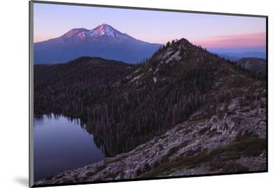 Summer Sunset, Castle Lake Overlook Mount Shasta Northern California-Vincent James-Mounted Photographic Print