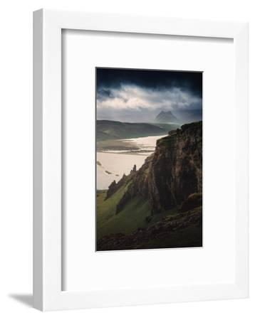 Breathtaking Southern Iceland Views Summer Green Storm Clouds-Vincent James-Framed Photographic Print