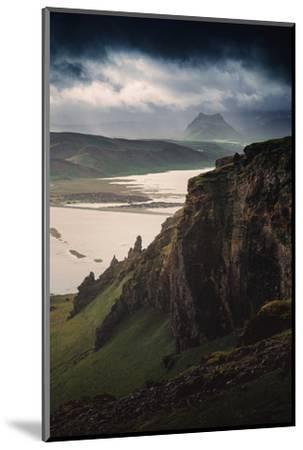 Breathtaking Southern Iceland Views Summer Green Storm Clouds-Vincent James-Mounted Photographic Print