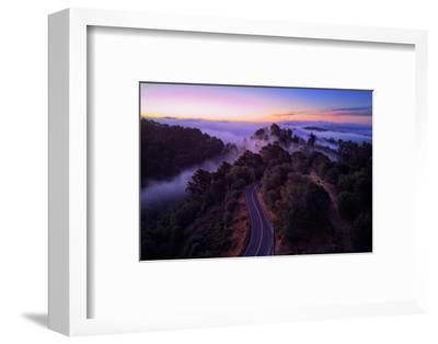 Dawn Over the Easy Bay Hills Oakland Montclair Grizzly Peak-Vincent James-Framed Photographic Print