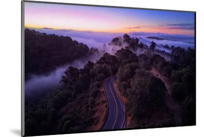 Dawn Over the Easy Bay Hills Oakland Montclair Grizzly Peak-Vincent James-Mounted Photographic Print