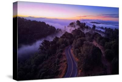 Dawn Over the Easy Bay Hills Oakland Montclair Grizzly Peak-Vincent James-Stretched Canvas Print