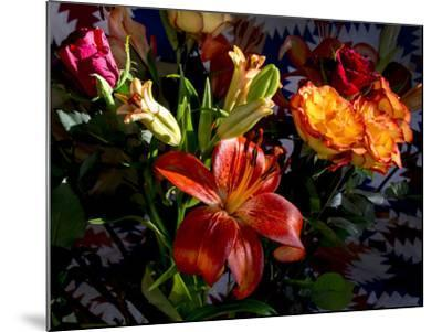 Flower arrangement-Charles Bowman-Mounted Photographic Print
