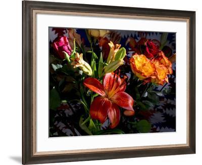 Flower arrangement-Charles Bowman-Framed Photographic Print