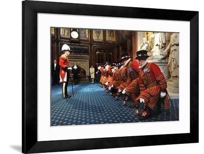 Ceremonial search of Parliament by Yeomen of the Guard-Associated Newspapers-Framed Photo