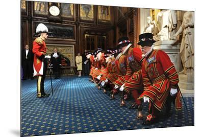 Ceremonial search of Parliament by Yeomen of the Guard-Associated Newspapers-Mounted Photo