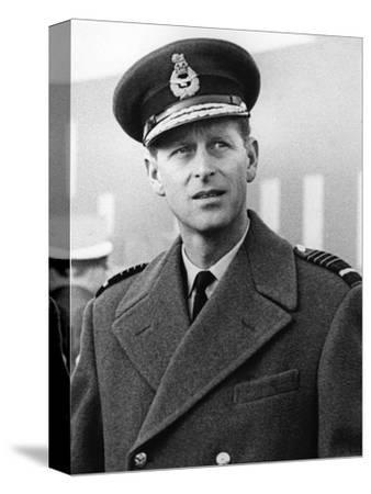Prince Philip in uniform-Associated Newspapers-Stretched Canvas Print