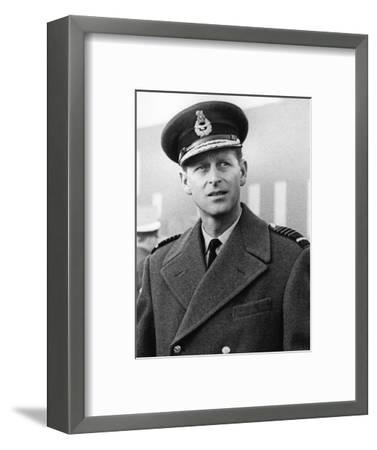Prince Philip in uniform-Associated Newspapers-Framed Photo