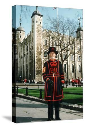 Yeoman Warder of the Tower of London-Associated Newspapers-Stretched Canvas Print