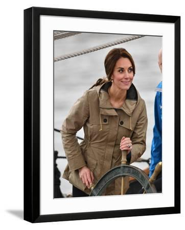 Catherine, Duchess of Cambridge at the wheel-Associated Newspapers-Framed Photo