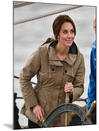 Catherine, Duchess of Cambridge at the wheel-Associated Newspapers-Mounted Photo