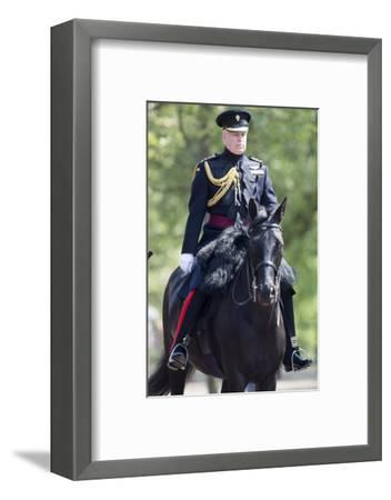 The Duke of York (Prince Andrew) in his duty as Colonel of the Grenadier Guards-Associated Newspapers-Framed Photo