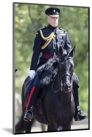 The Duke of York (Prince Andrew) in his duty as Colonel of the Grenadier Guards-Associated Newspapers-Mounted Photo