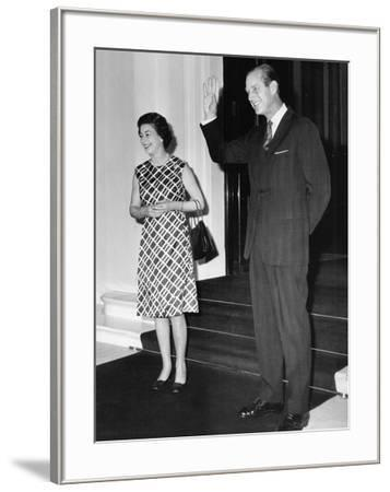 Queen Elizabeth II and Prince Philip hosting a state visit-Associated Newspapers-Framed Photo