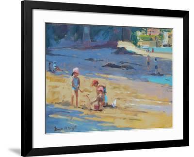 Salcombe Beach, Children-Jennifer Wright-Framed Giclee Print