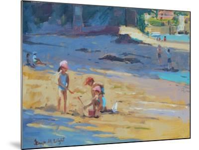 Salcombe Beach, Children-Jennifer Wright-Mounted Giclee Print