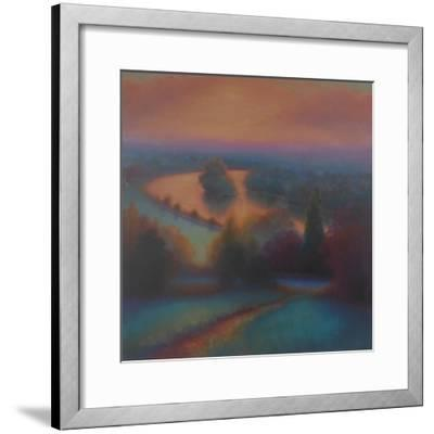 Petersham Autumn; View from Richmond Hill,-Lee Campbell-Framed Giclee Print